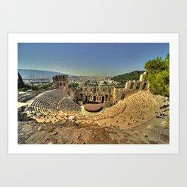 Odeon of Herodes Atticus Art Print