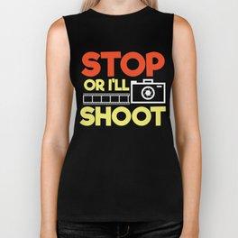 Stop Or I'll Shoot Biker Tank