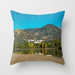 The Stanley Hotel Estes Park Colorado Rocky Mountains Throw Pillow