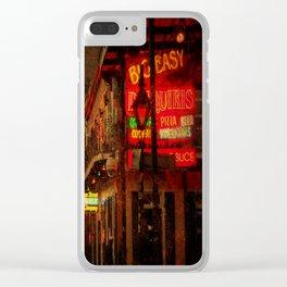 Bourbon Street Grunge Clear iPhone Case