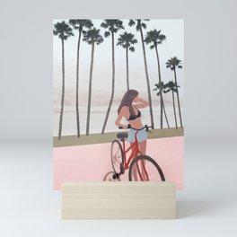 Seaside Biking Mini Art Print