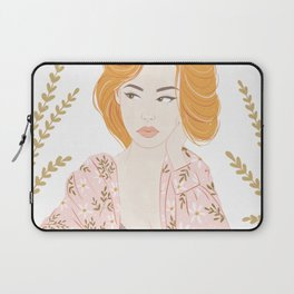 Girl in florals Laptop Sleeve