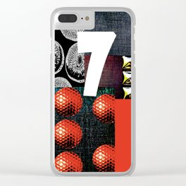 RED #THE 7 SERIES Clear iPhone Case
