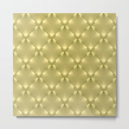 Quilted Gold Butterfly Panels Metal Print