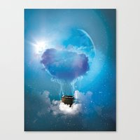 balloon Canvas Prints featuring Balloon by Julien Kaltnecker