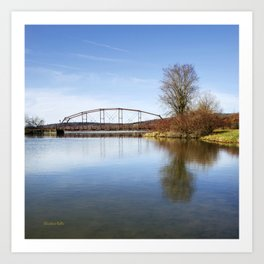 Solitude Bridge Landscape Art Print