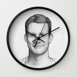 Daniel Tosh Portrait Wall Clock
