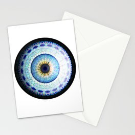 Blue Ceramic  Eyball Jewel Stationery Cards