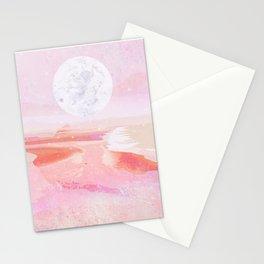 pink moonrise Stationery Cards