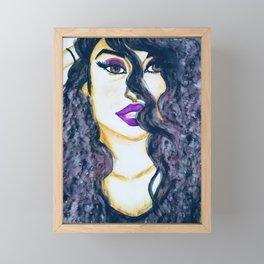 Sexy mystery woman Framed Mini Art Print