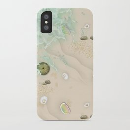 Walking on the beach iPhone Case