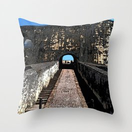 Castillo San Felipe del Morro Throw Pillow