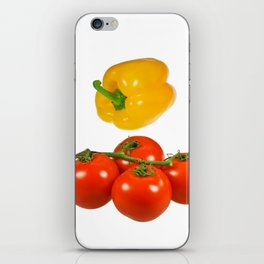 Vegetables with white background iPhone Skin