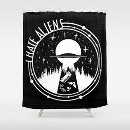 I Love Aliens Shower Curtain