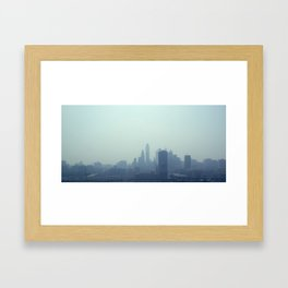 Philly Fog Framed Art Print