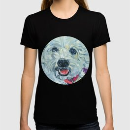 White Hot Fluffy Dog T-shirt