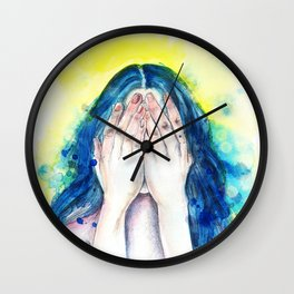 That one with blue hair Wall Clock
