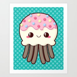 Candy Covered Jellyfish Art Print