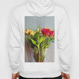 Flowers in a vase - with red and yellow roses Hoody