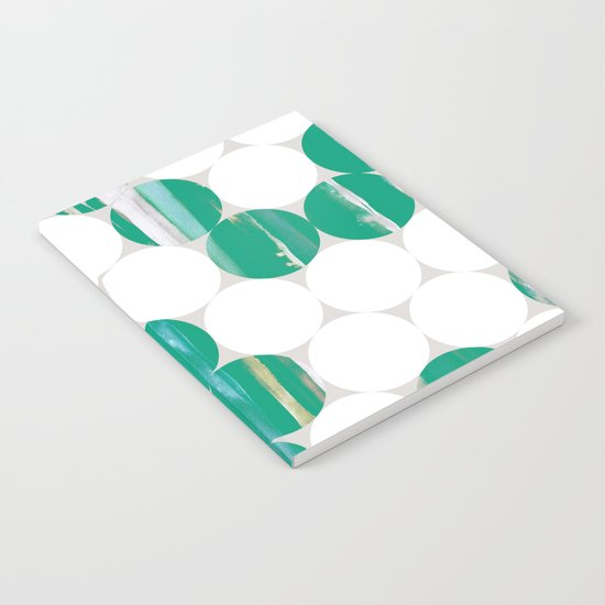 Circles(green and white) Notebook