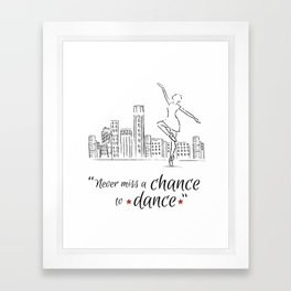 Chance to dance Framed Art Print