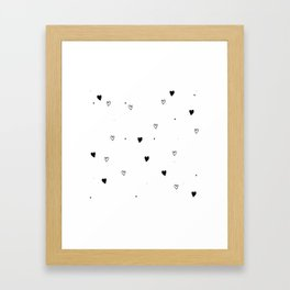 Little Hearts, kids room and nursery deco Framed Art Print