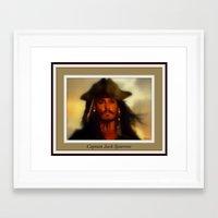 jack sparrow Framed Art Prints featuring Captain Jack Sparrow. by elkart51