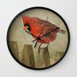 RED bird Wall Clock