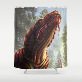 Tyrannosaurus Meal Shower Curtain