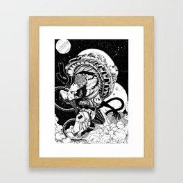 doomed astronaut Framed Art Print