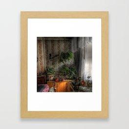 Inside garden in old house Framed Art Print