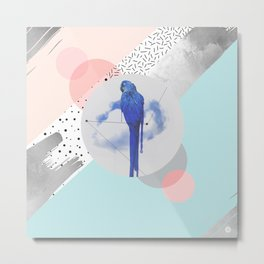 Abstract & bird Metal Print