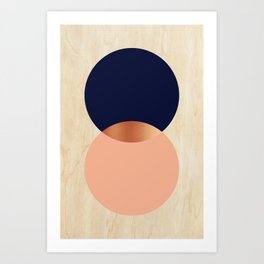 Copper Moon Art Print