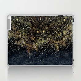 Stylish Gold floral mandala and confetti Laptop & iPad Skin