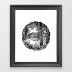 Trees near the river Framed Art Print