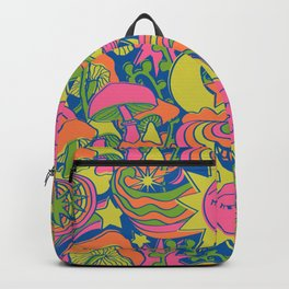 Psychedelic Daydream in Neon + Blue Backpack