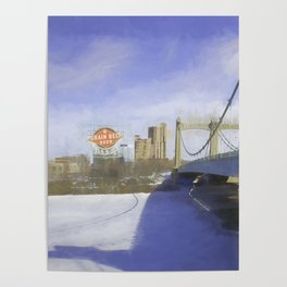 Grain Belt Beer on the Mississippi Poster