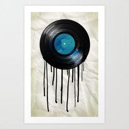vinyl drip Art Print