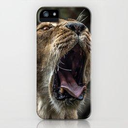 Yawning Female Lion iPhone Case