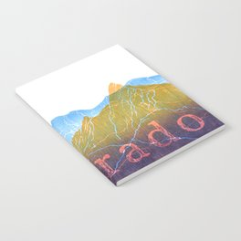 Colorado Mountain Ranges_Boulder Flat Irons + Continental Divide Notebook