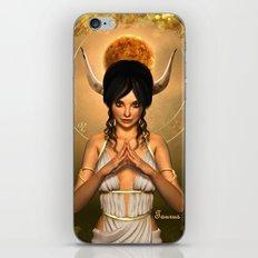 Taurus zodiac fantasy circle iPhone & iPod Skin