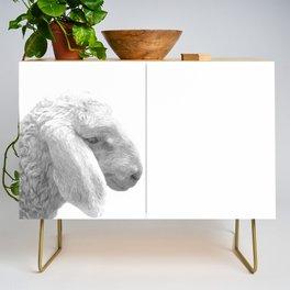 Black and White Sheep Credenza