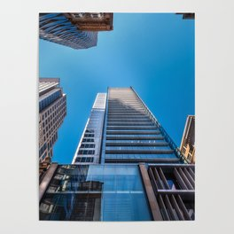 Looking up at MidCity Centre in Sydney Poster