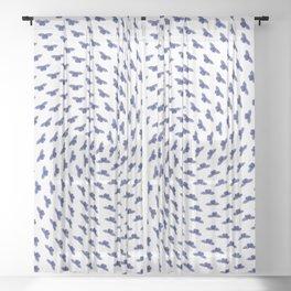 Blue butterflies in the swarm Sheer Curtain