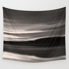 Lake. Reflections of light in water. Wall Tapestry
