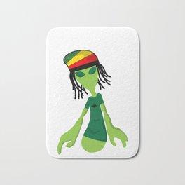 Rastafari Alien Smoking Weed Rasta Marijuana Smoker design Bath Mat