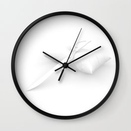 One Armed Scissor Shadows Wall Clock