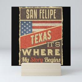 San Felipe Texas Mini Art Print