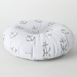 Stormy Nautical Pattern 1 Floor Pillow