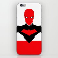 red hood iPhone & iPod Skins featuring RED HOOD by Jeremy Campos